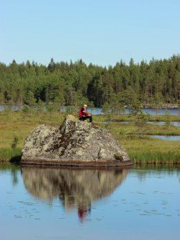 Kalastaja Lestijärvellä